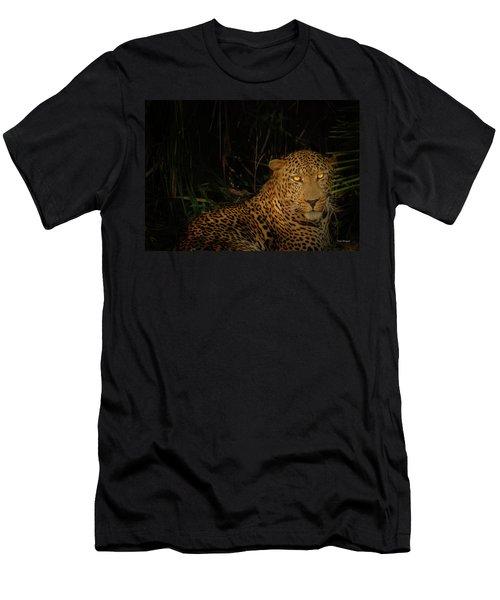 Leopard Hiding Men's T-Shirt (Athletic Fit)