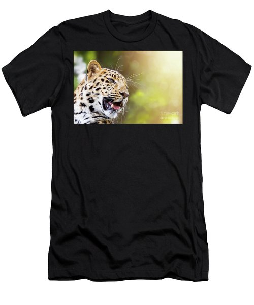 Leopard In Sunlight Men's T-Shirt (Athletic Fit)