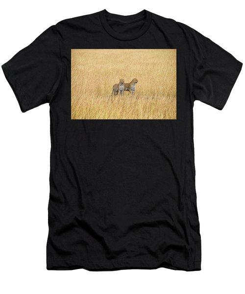 Leopard Pair Men's T-Shirt (Athletic Fit)
