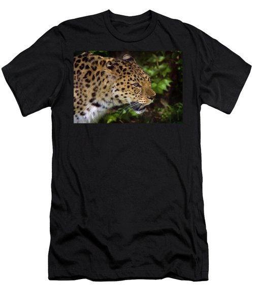 Men's T-Shirt (Slim Fit) featuring the photograph Leopard by Steve Stuller