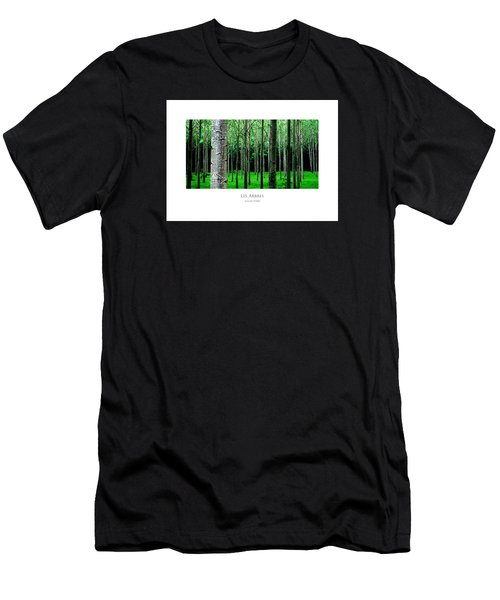 Men's T-Shirt (Athletic Fit) featuring the digital art Les Arbres by Julian Perry