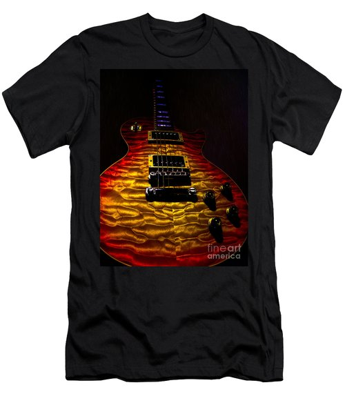 Guitar Custom Quilt Top Spotlight Series Men's T-Shirt (Athletic Fit)