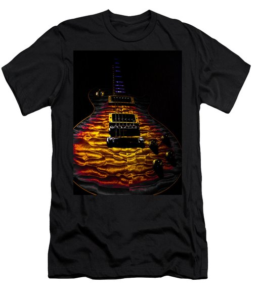 Tri-burst Quilt Top Guitar Spotlight Series Men's T-Shirt (Athletic Fit)