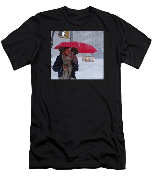 L Esprit De New York - Winter In New York Men's T-Shirt (Athletic Fit)