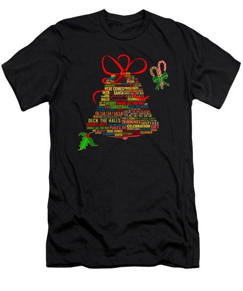 Let It Ring Words Men's T-Shirt (Athletic Fit)