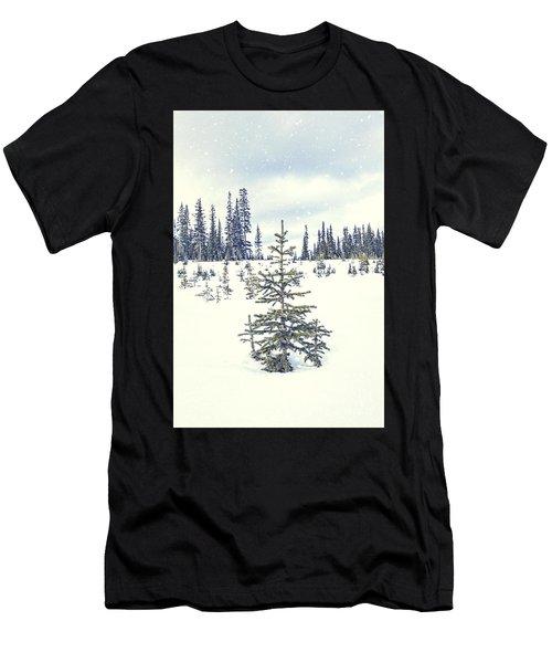 Let It Snow Men's T-Shirt (Athletic Fit)