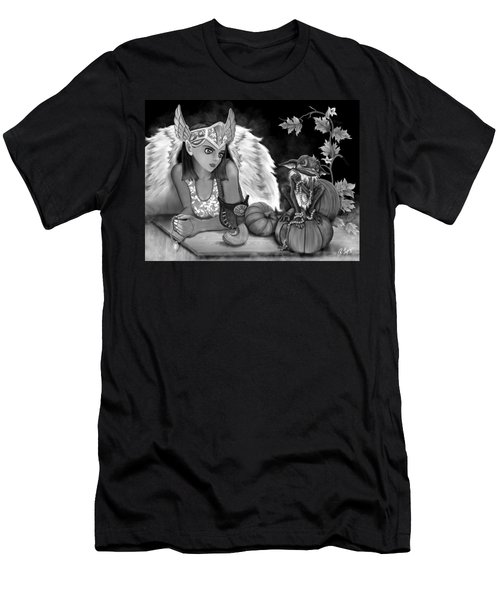 Let Me Explain - Black And White Fantasy Art Men's T-Shirt (Athletic Fit)