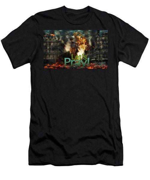 Let Us Pray Men's T-Shirt (Athletic Fit)