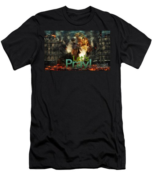 Men's T-Shirt (Athletic Fit) featuring the digital art Let Us Pray by Kathy Tarochione