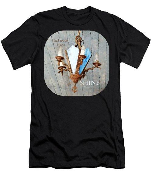 Let Your Light Shine - Verse Men's T-Shirt (Athletic Fit)