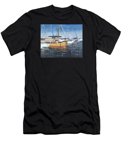 Men's T-Shirt (Athletic Fit) featuring the painting Let's Go by Jane Croteau