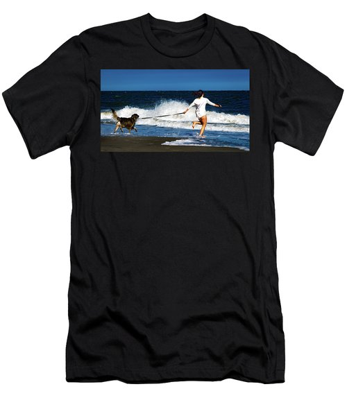 Let's Play In The Water Men's T-Shirt (Athletic Fit)