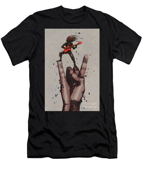 Let's Rock Men's T-Shirt (Athletic Fit)