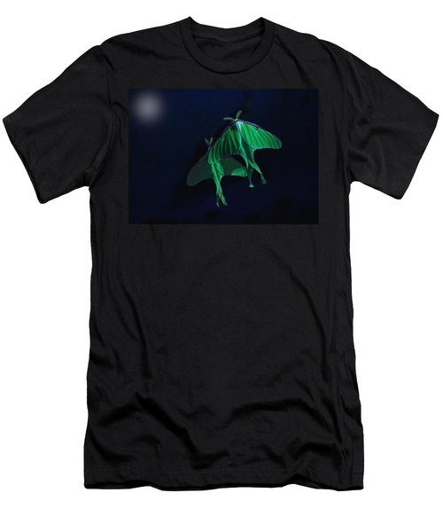 Men's T-Shirt (Slim Fit) featuring the photograph Let's Swim To The Moon by Susan Capuano