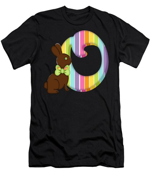 Letter O Chocolate Easter Bunny Men's T-Shirt (Athletic Fit)