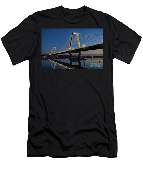 Men's T-Shirt (Slim Fit) featuring the photograph Lewis And Clark Bridge - D009999 by Daniel Dempster