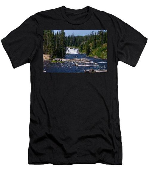Lewis Falls Yellowstone Men's T-Shirt (Slim Fit) by Jennifer White
