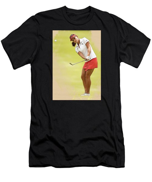 Lexi Thompson Chips To The First Green  Men's T-Shirt (Athletic Fit)