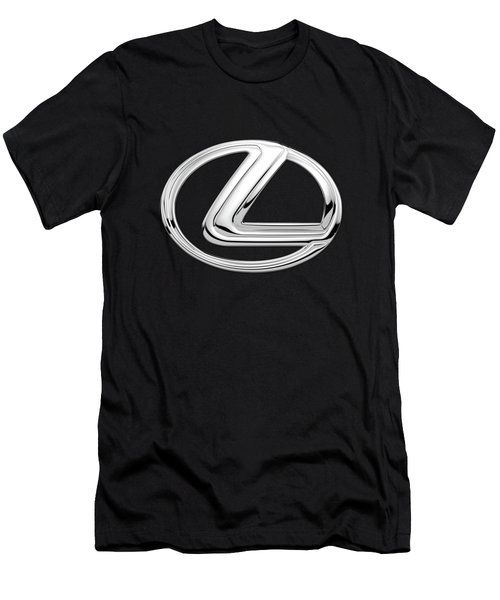 Lexus - 3d Badge On Black Men's T-Shirt (Athletic Fit)