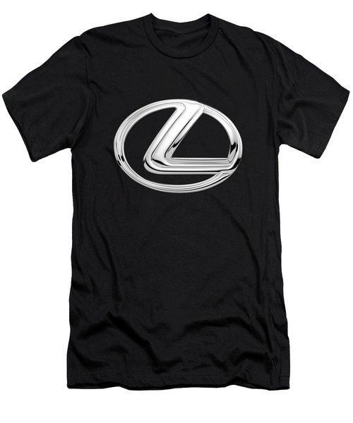Lexus - 3d Badge On Black Men's T-Shirt (Athletic Fit)