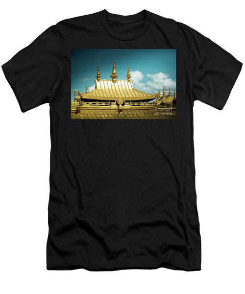 Lhasa Jokhang Temple Fragment Tibet Artmif.lv Men's T-Shirt (Athletic Fit)