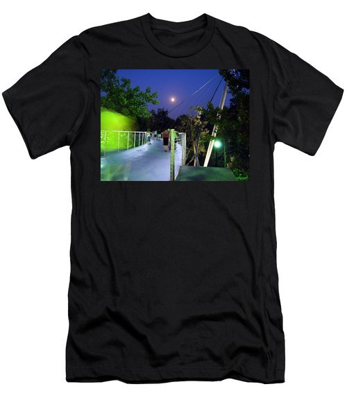 Liberty Bridge At Night Greenville South Carolina Men's T-Shirt (Slim Fit) by Flavia Westerwelle