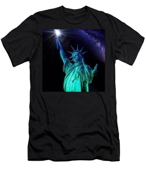 Liberty Sky Men's T-Shirt (Athletic Fit)