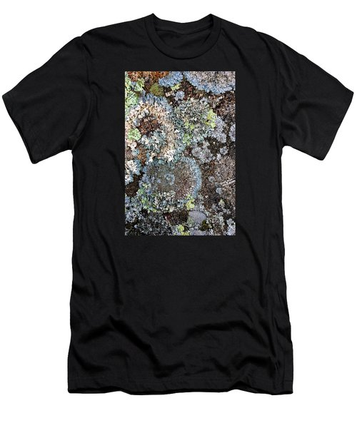 Men's T-Shirt (Athletic Fit) featuring the digital art Lichens by Julian Perry