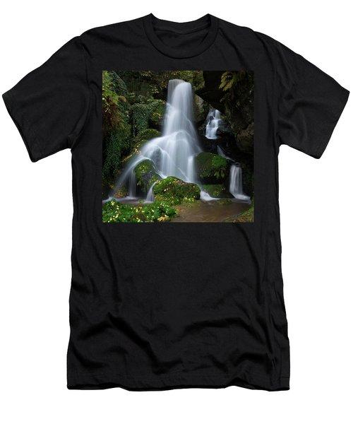 Lichtenhain Waterfall Men's T-Shirt (Athletic Fit)