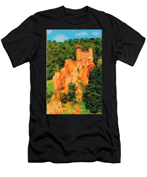 Lichtenstein Castle Men's T-Shirt (Athletic Fit)
