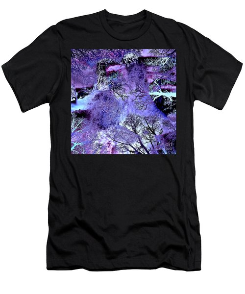 Men's T-Shirt (Athletic Fit) featuring the digital art Life In The Ultra Violet Bush Of Ghosts  by Silva Wischeropp
