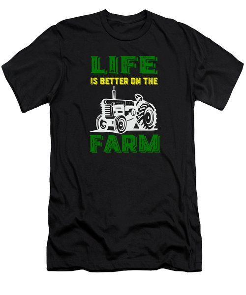 Life Is Better On The Farm Tee Men's T-Shirt (Athletic Fit)