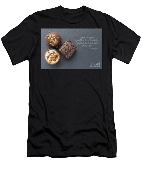 Life Is Like A Box Of Chocolate Forest Gump Quote Men's T-Shirt (Athletic Fit)