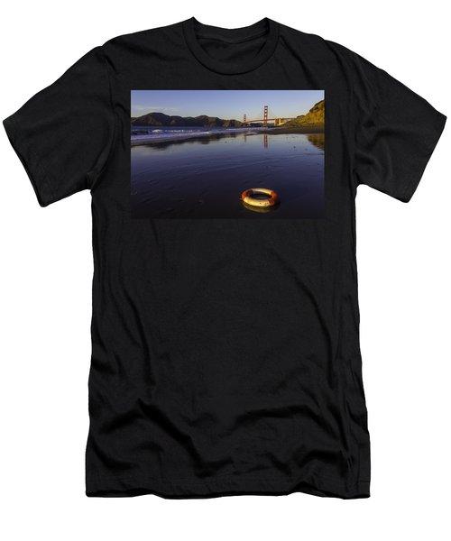 Life Ring And Golden Gate Bridge Men's T-Shirt (Athletic Fit)