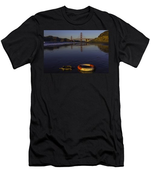 Life Ring And Ships Wheel Men's T-Shirt (Athletic Fit)
