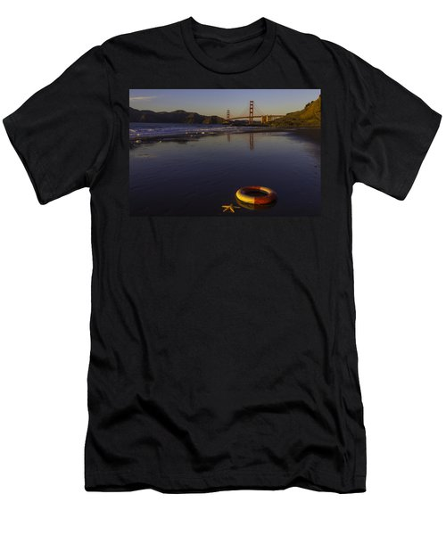 Life Ring And Starfish Men's T-Shirt (Athletic Fit)