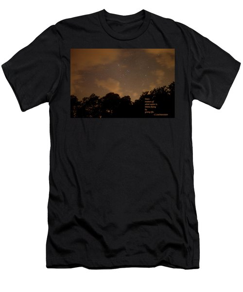 Life, Water And Stars Men's T-Shirt (Athletic Fit)
