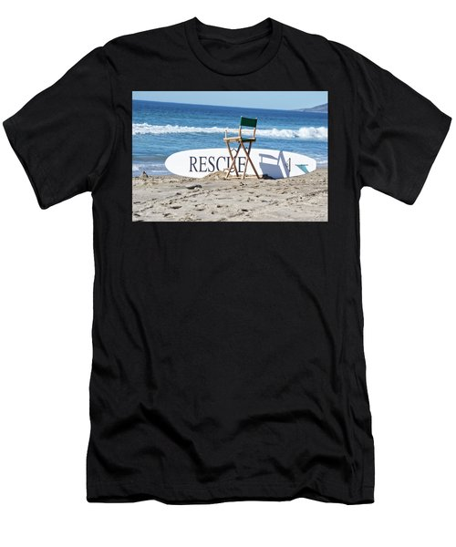 Lifeguard Surfboard Rescue Station  Men's T-Shirt (Athletic Fit)