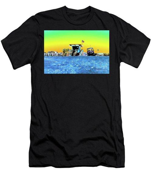 Lifeguard Tower 1 Men's T-Shirt (Athletic Fit)