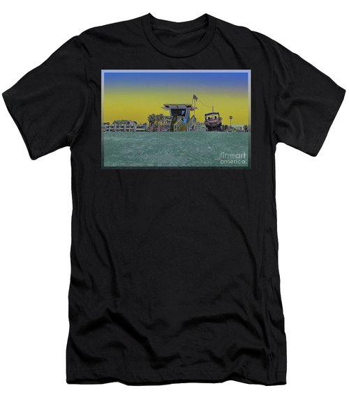 Lifeguard Tower 4 Men's T-Shirt (Athletic Fit)
