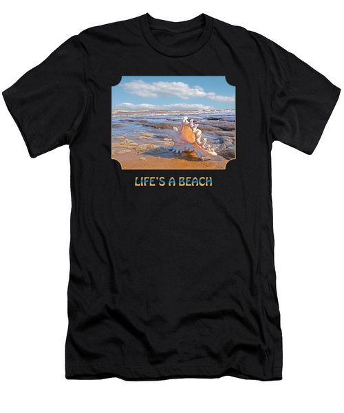 Life's A Beach - Murex Ramosus Seashell Men's T-Shirt (Athletic Fit)