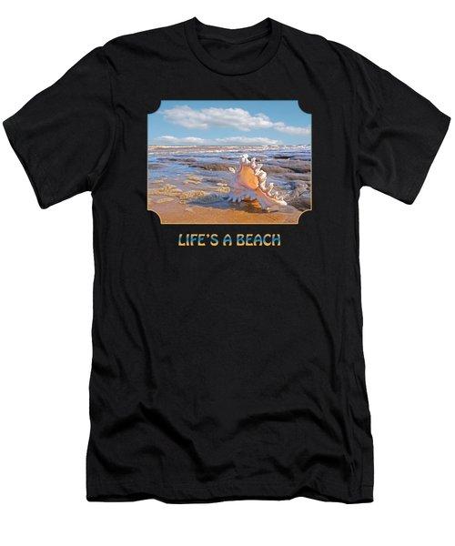 Life's A Beach - Murex Ramosus Seashell Men's T-Shirt (Athletic Fit)