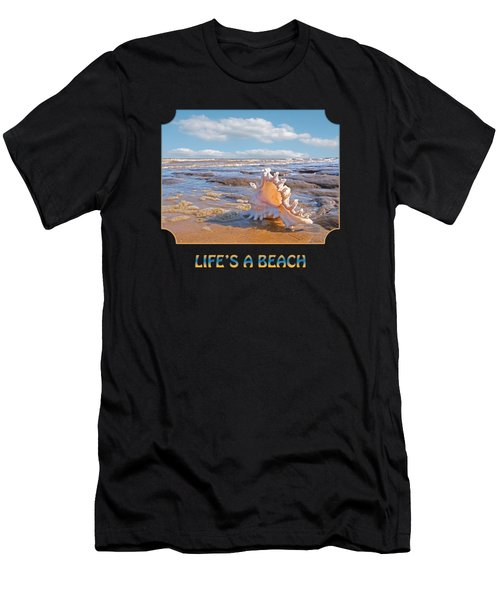 Life's A Beach - Murex Ramosus Seashell - Square Men's T-Shirt (Athletic Fit)