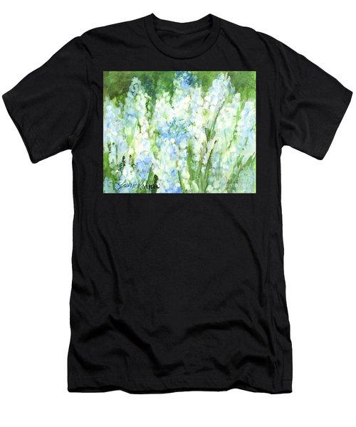 Light Blue Grape Hyacinth. Men's T-Shirt (Athletic Fit)