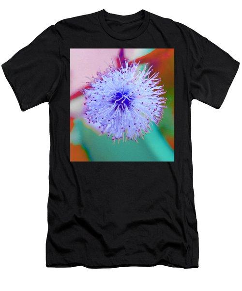 Light Blue Puff Explosion Men's T-Shirt (Athletic Fit)