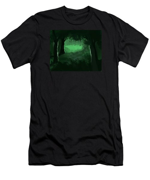 Light In The Forest Men's T-Shirt (Athletic Fit)