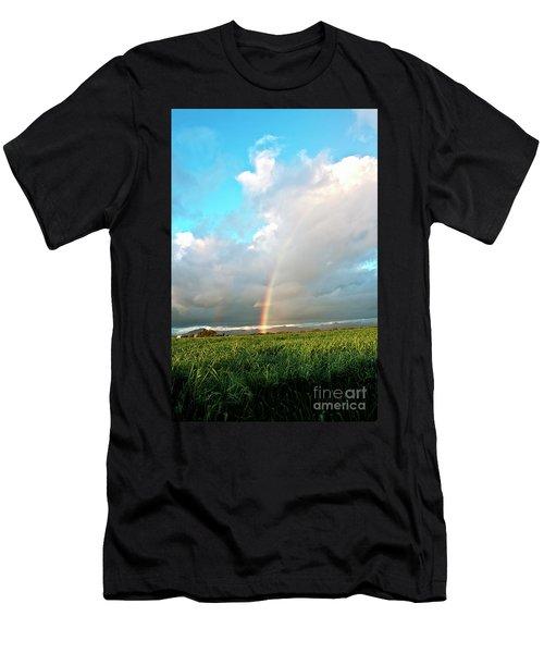Light It Up - Rainbow Portrait Men's T-Shirt (Athletic Fit)