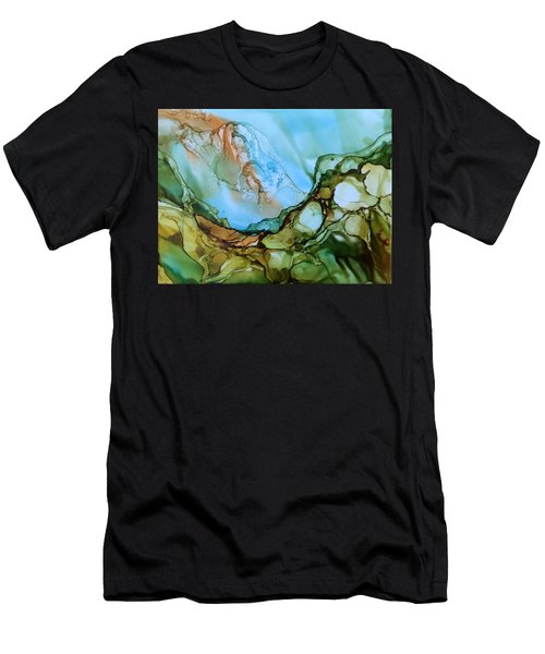 Men's T-Shirt (Slim Fit) featuring the painting Light My Fire by Pat Purdy