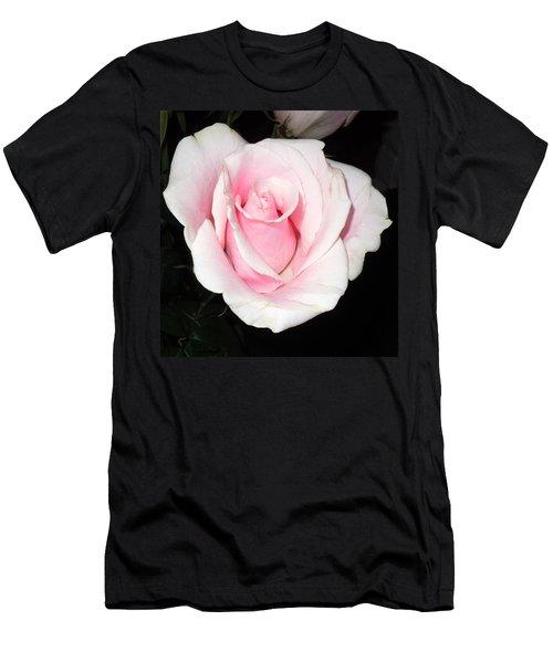 Light Pink Rose Men's T-Shirt (Athletic Fit)