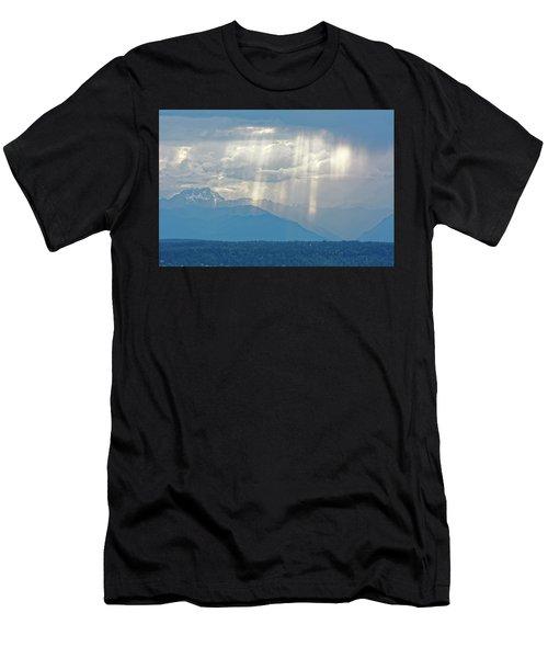 Light Through Clouds Men's T-Shirt (Athletic Fit)